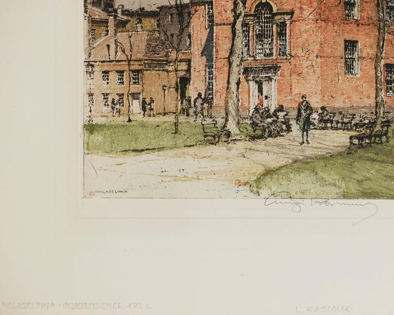 Philadelphia, Independence Hall - Print by Luigi Kasimir