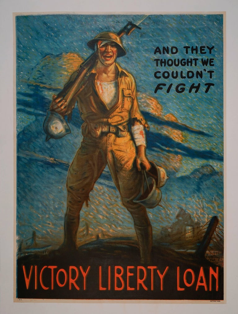 Victor Clyde Forsythe Portrait Print - And They Thought We Couldn't Fight