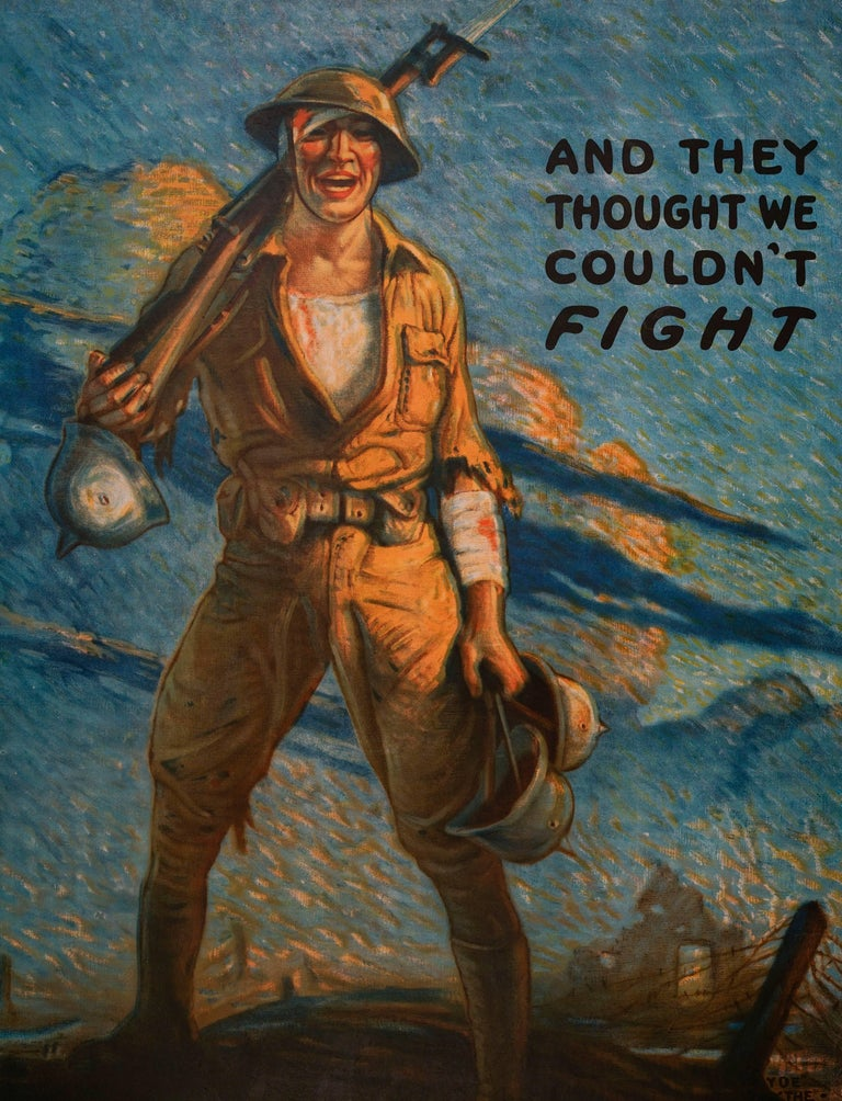 And They Thought We Couldn't Fight  - Print by Victor Clyde Forsythe