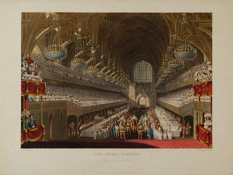 Charles Wild Figurative Print - The Royal Banquet, First Course Continued