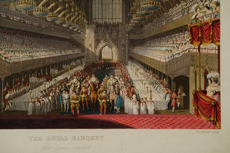 The Royal Banquet, First Course Continued - Print by Charles Wild
