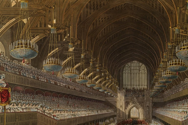 The Royal Banquet, First Course Continued - Realist Print by Charles Wild