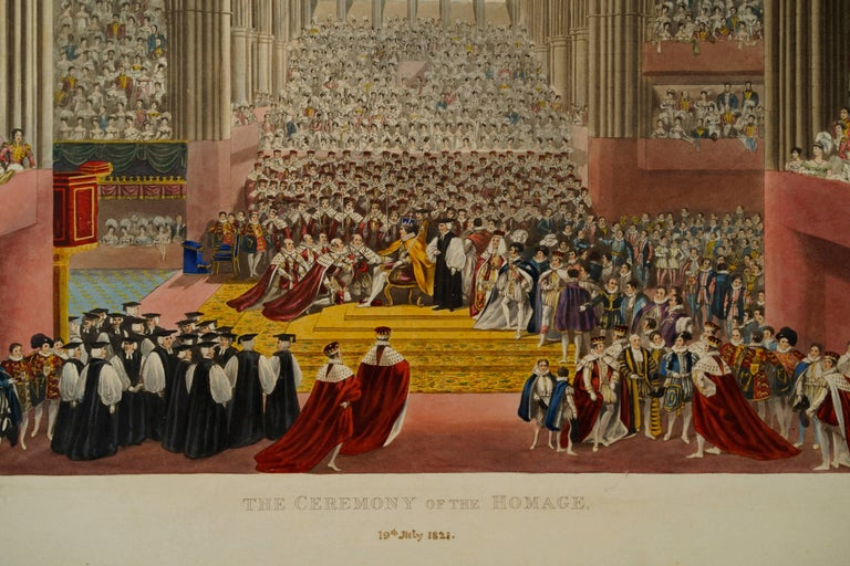 The Ceremony of the Homage - Print by James Stephanoff