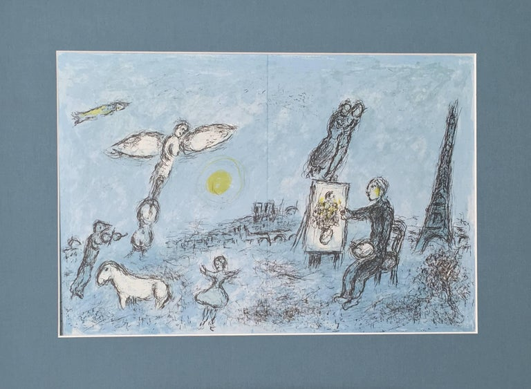 Marc chagall le peintre et son double print for sale at for Chagall peintre