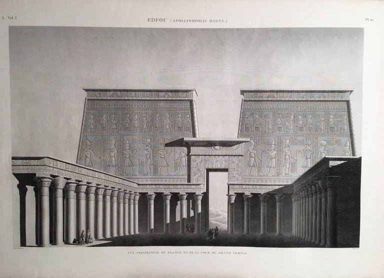 Edfou (Apollinopolis Magna) - Print by Jean-Baptiste Prosper Jollois