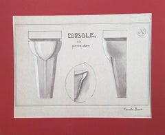 "Design for a ""Console en Pierre Dure"" (Stone Sconce)"