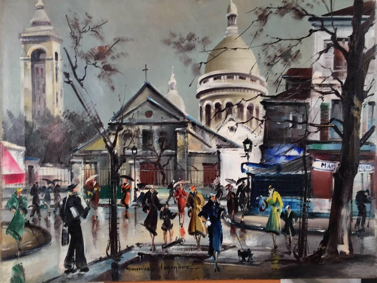 Monmartra, Paris  - Painting by Maurice Legendre