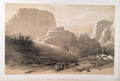 The Acropolis, Lower End of the Valley  (of Petra)