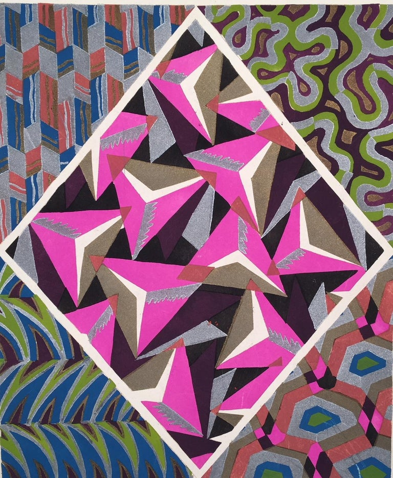 Adrien-Jacques Garcelon Abstract Print - Inspirations, Pate 8