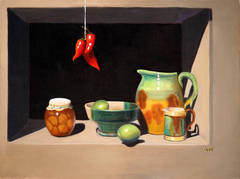 Still Life with Majolica Pitcher