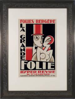 La Grande Folie Folies Bergere Hyper Revue Poster