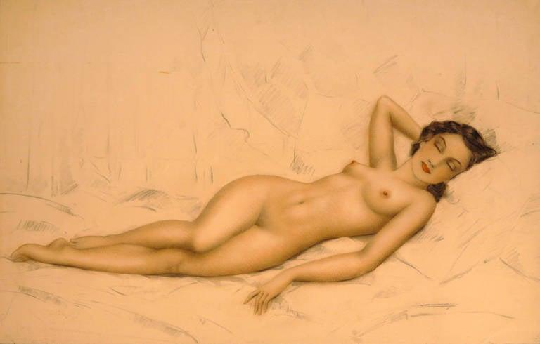 Sleeping Nude - Art by Unknown