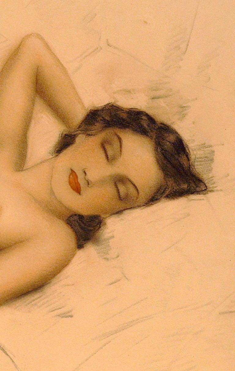 Sleeping Nude - Modern Art by Unknown