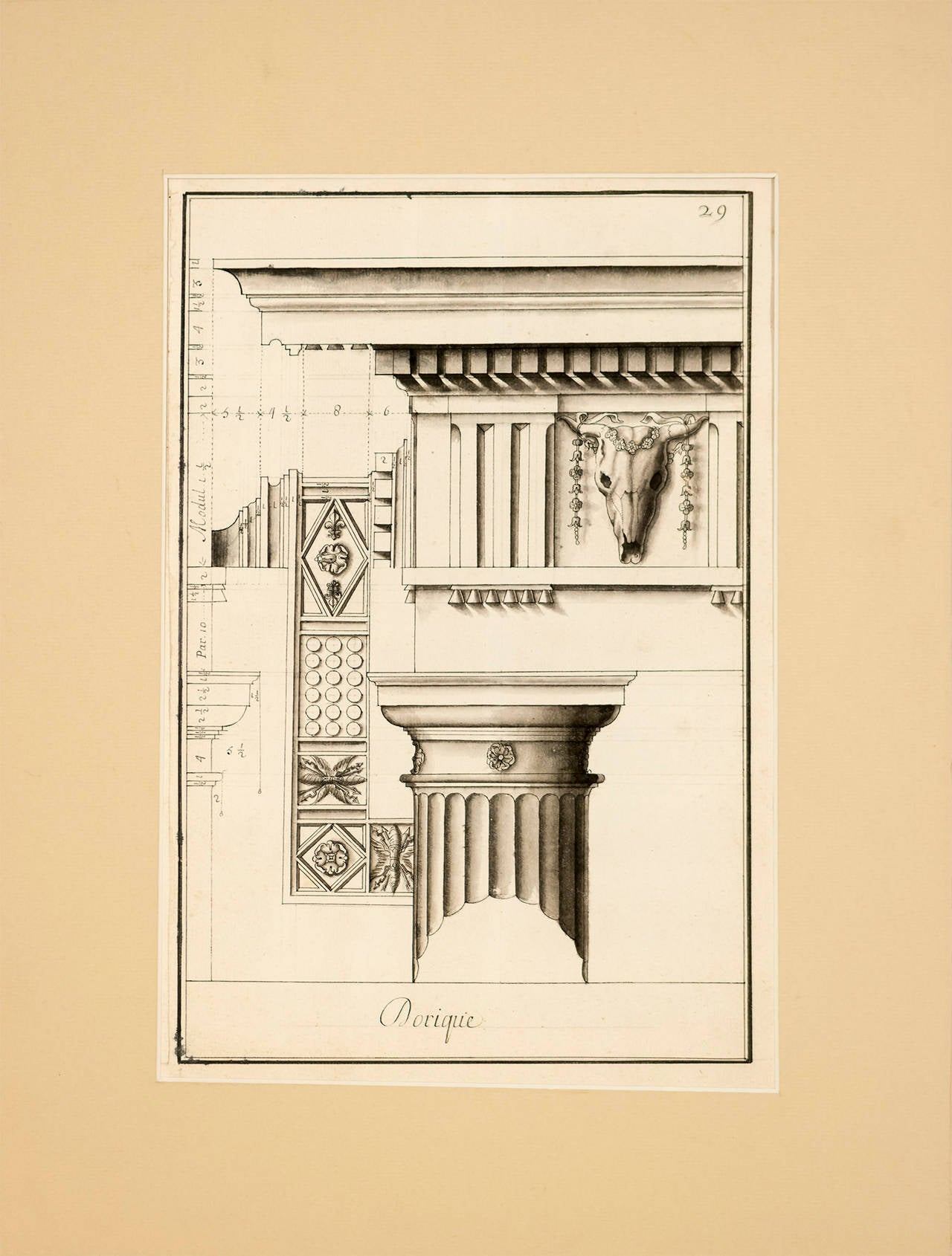 Unknown Landscape Print - Doric Columns from the Theater of Marcella in Rome