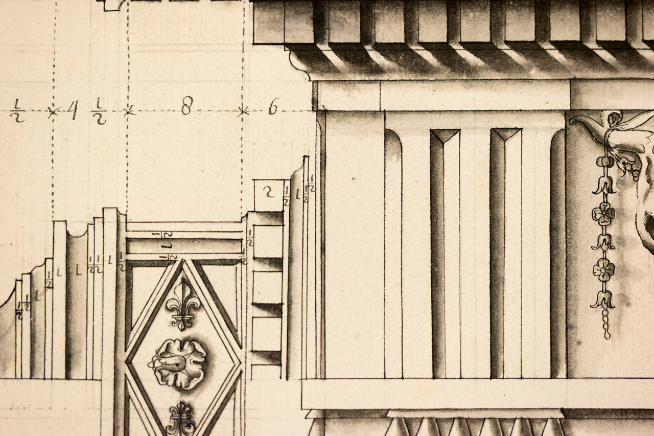 Doric Columns from the Theater of Marcella in Rome - Realist Print by Unknown