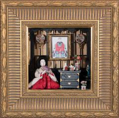 Antique Japanese Doll Diorama