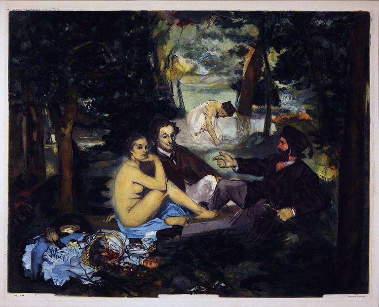 Le Déjeuner sur l'herbe (after Manet)