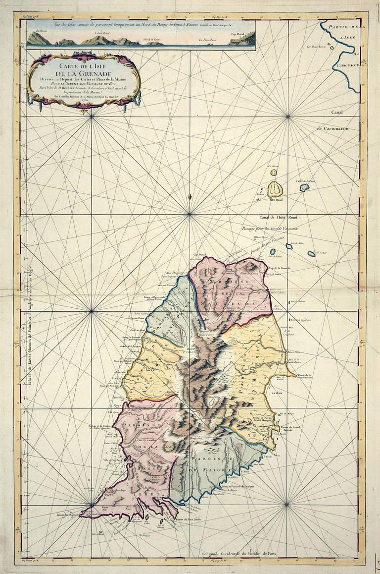Carte Reduite de l'Isle d'Antigua
