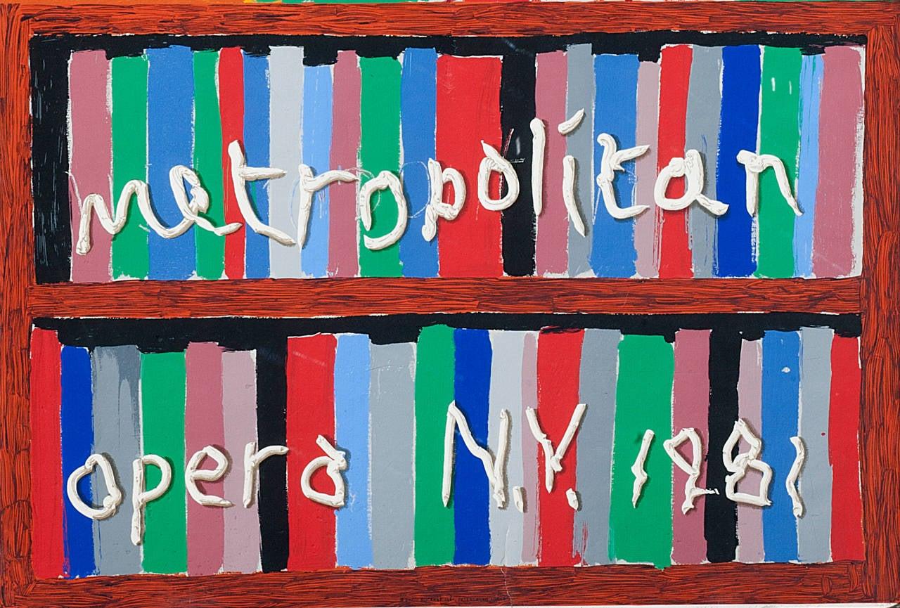 Parade Metropolitan Opera 1981 - Contemporary Print by David Hockney