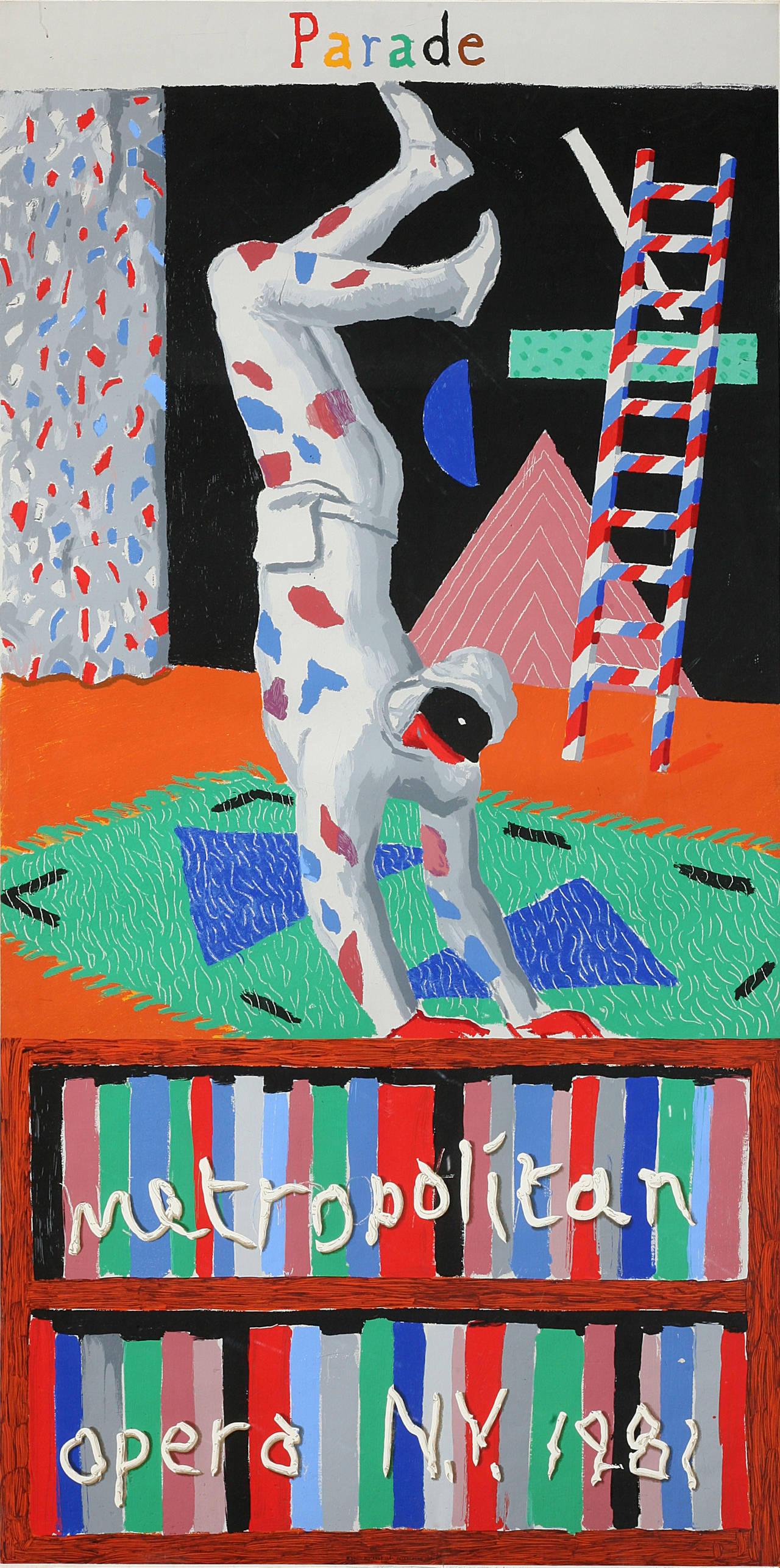 David Hockney Figurative Print - Parade Metropolitan Opera 1981
