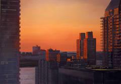 Sunset across the Hudson River
