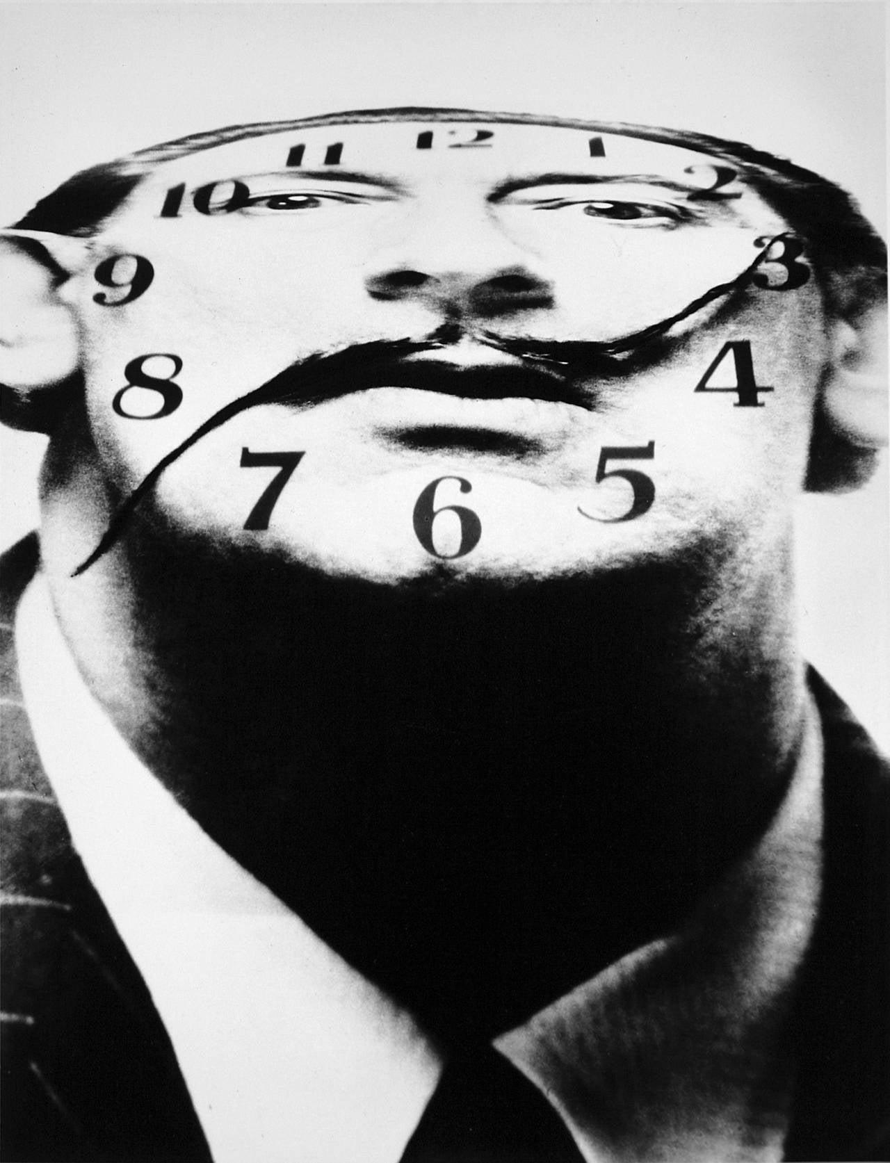 Salvador Dali / Philippe Halsman - Dali Clockface, Photograph: For ...