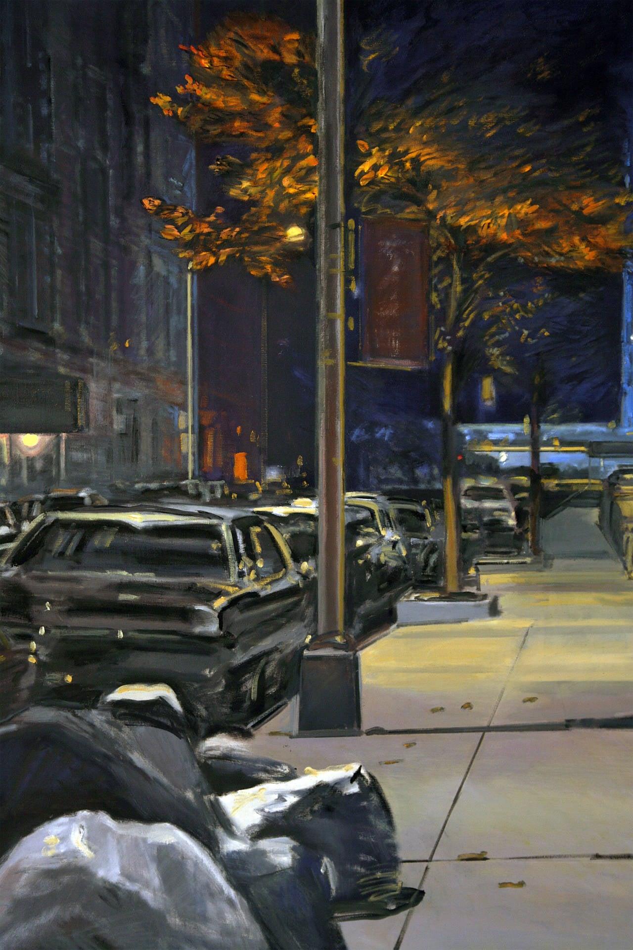 Midnight - Contemporary Painting by Derek Reist