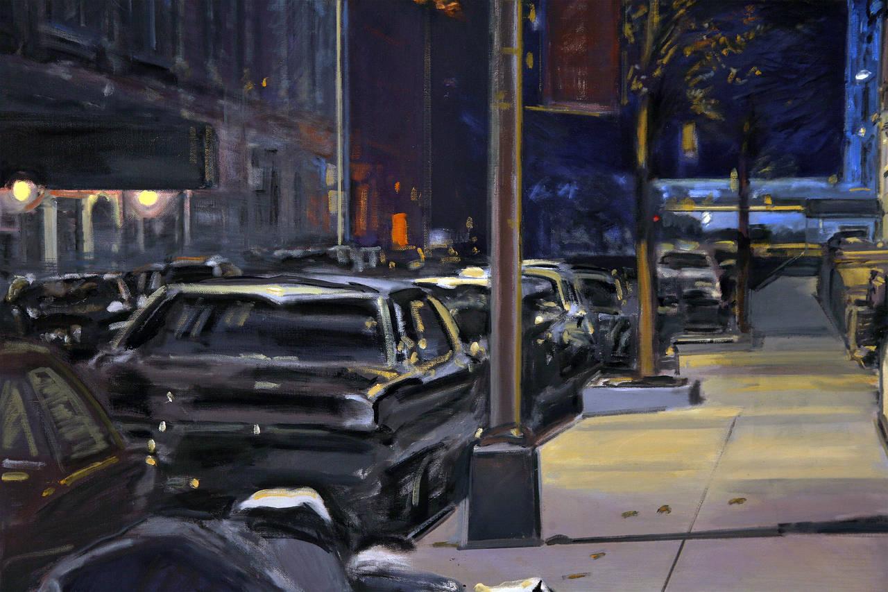 Midnight - Black Landscape Painting by Derek Reist