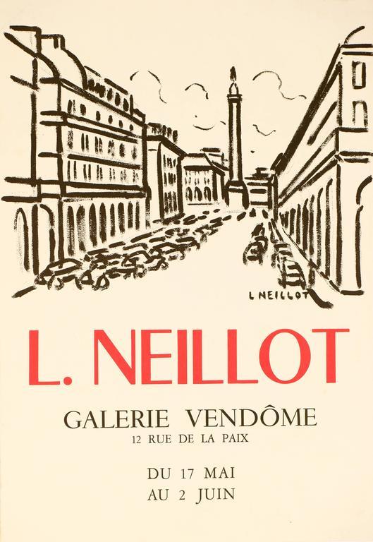 Louis Neillot Landscape Print - Gallerie Vendome Paris Poster