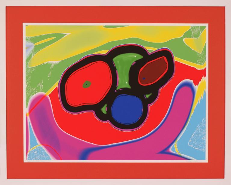 Jim Durling-Jones Abstract Print - Happy Sad Smile