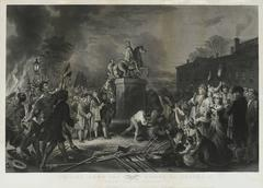 Pulling Down The Statue of George III