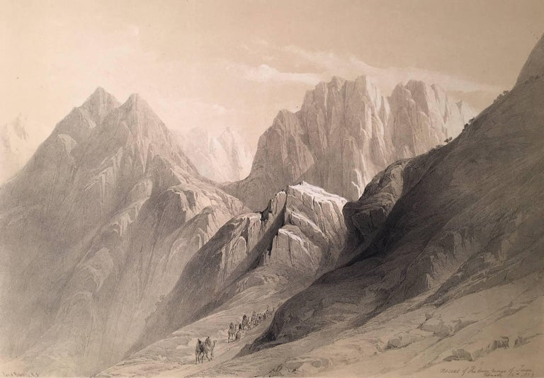 Ascent of the Lower Range of Sinai - Print by David Roberts