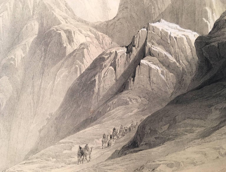 Ascent of the Lower Range of Sinai - Realist Print by David Roberts