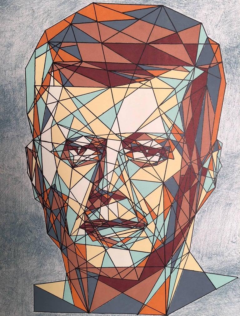 John F. Kennedy Cubist Portrait - Print by Unknown
