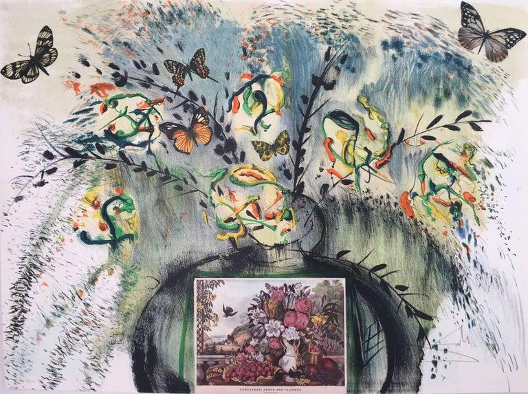 Les Fleurs et Fruits - Surrealist Print by Salvador Dalí