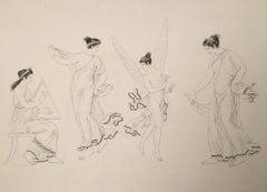 L'Amour dansant avec deux des Graces et Accompagnant sa danse du son de crotales