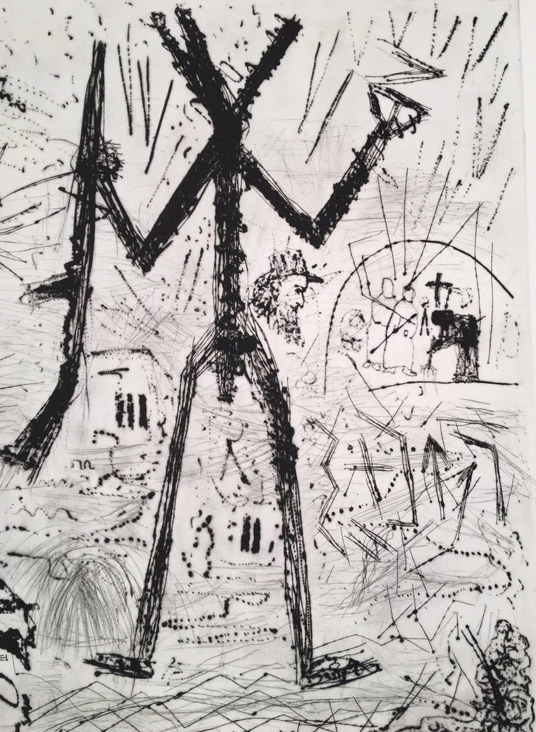 Expedition to the Holy Land - Neo-Expressionist Print by A.R. Penck (Ralf Winkler)