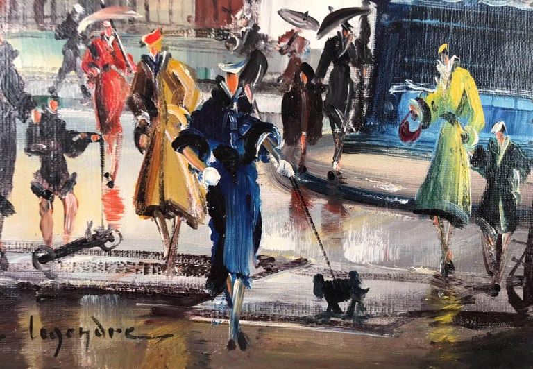 Monmartra, Paris  - Art Deco Painting by Maurice Legendre