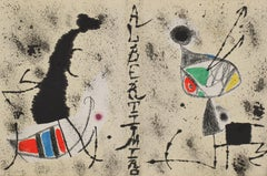 Lithographic  Artist-Book Linen Cover by Miró