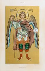 Byzantine Mosaic Angel Litho