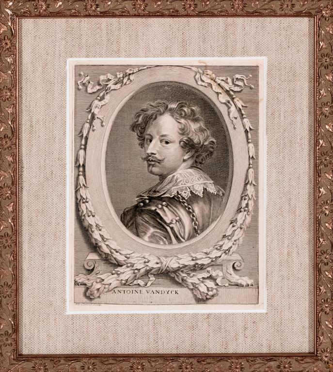 Albert Clouvet Portrait Print - Portrait of Anthony VanDyck