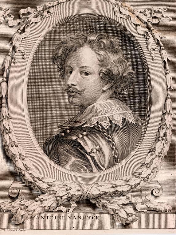 Portrait of Anthony VanDyck - Print by Albert Clouvet