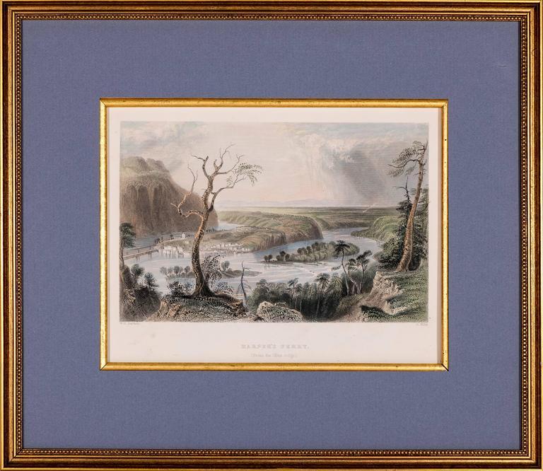 W. H. Bartlett Landscape Print - Harper's Ferry from the Blue Ridge