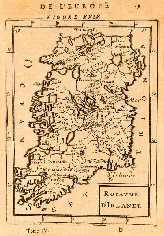 Map Of Ireland Print.Alain Manesson Mallet Map Of Ireland Print For Sale At 1stdibs