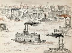 St. Louis Waterfront 1880