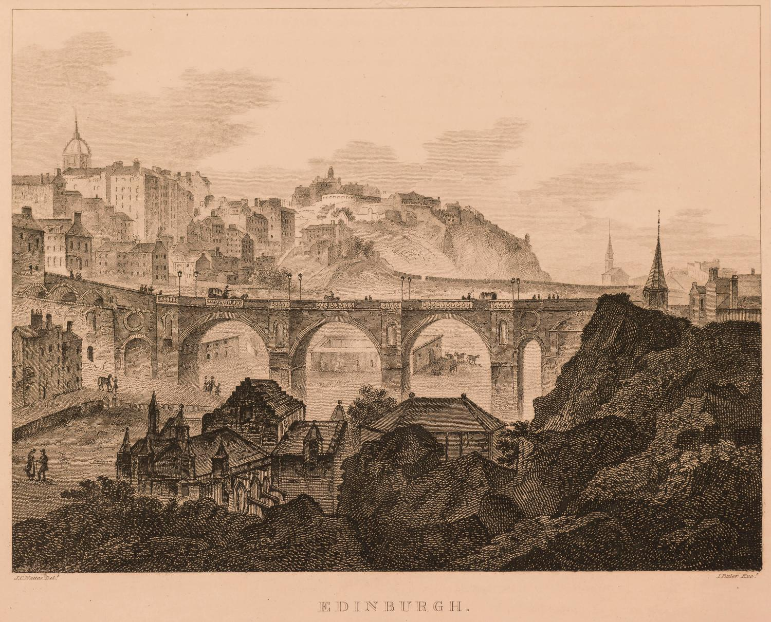 Unknown Edinburgh View Of North Bridge And Calton Hill