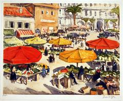 Lucien Seevagen - Outdoor Market in Nice #1