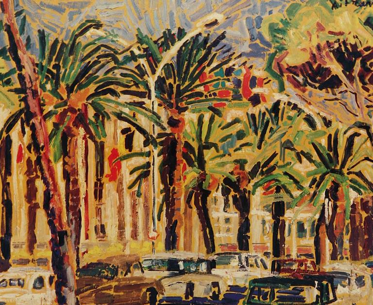 Cannes Gallery Exhibit Poster - Print by Anne Francais