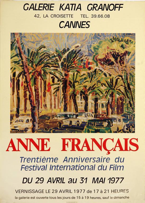Anne Francais Landscape Print - Cannes Gallery Exhibit Poster