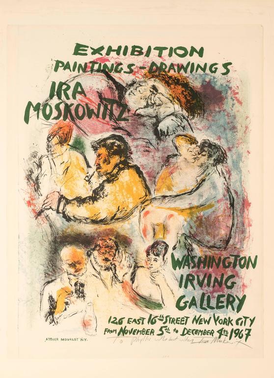 Ira Moskowitz Figurative Print - Exhibition Poster